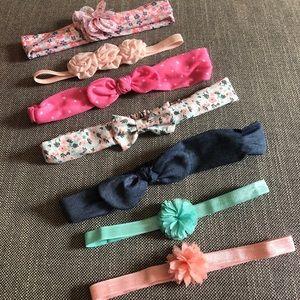 Set of 7 Baby Headbands